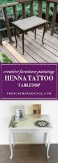 creative furniture painting henna tattoo tabletop