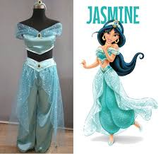 Jasmine Halloween Costume Adults Princess Jasmine Costume Wig True Littlepennylane Etsy