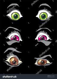 halloween costume monster scary eyes horror stock vector 62434600