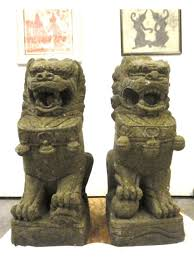 asian lion statues large carved foo dog guardian lion statues for home garden