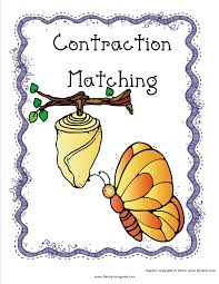 contractions worksheets from the teacher u0027s guide