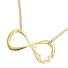 infinity pendant necklace images Infinity symbol number 8 pendant necklace gold silver metal chain jpg