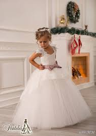Off Shoulder Lace Sash Ball Gown Net Baby Birthday Party