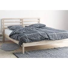 ikea tarva queen size bed frame solid pine wood brown queen bed