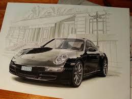 porsche cartoon drawing porsches how to draw a real car