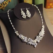 silver rhinestone necklace images Jonnafe generous silver rhinestone jewelry set necklace earrings jpg