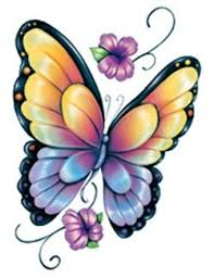 butterfly rainbow design tattoos rainbow