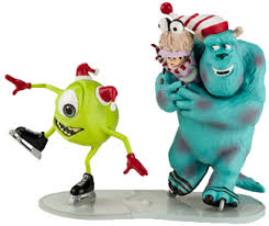 monsters inc ornaments mike sully and boo it s christmastime
