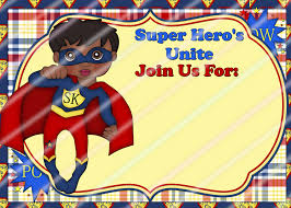 Jungle Theme Invitation Card Superhero Party Invitation Template Youtuf Com