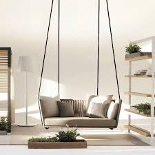 design hollywoodschaukel kettal bitta swing gartensofa hollywoodschaukel braunes