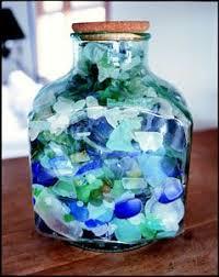 pearls sea glass in jars Google Search