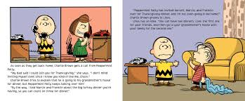 thanksgiving dinner cartoon pics a charlie brown thanksgiving book by charles m schulz daphne