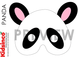 goat mask coloring page panda mask template free printable mask coloring pages for kids