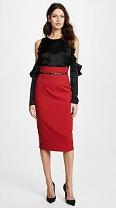 pencil skirts black halo high waisted pencil skirt east dane use code