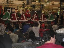 santa claus now at stoneridge mall as shopping