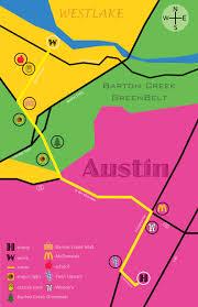 Greenbelt Austin Map by Graphic Design 1 Personal Geography Gdes Portfolio