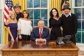 Trumps Oval Office by Sarah Palin Kid Rock Ted Nugent White House Photo Trump