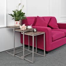 B Otisch Online Kaufen Ikayaa 3er Set Beistelltisch Couchtisch Set Mit Metall Rahmen