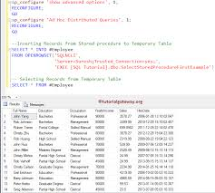t sql insert into new table how to insert stored procedure result into temporary table in sql server