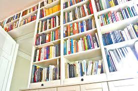 White Bookcase Ideas Wall Bookcase Units Wooden With Computer Desk Gammaphibetaocu Com