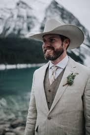 grooms attire winter wedding inspiration cowboy wedding