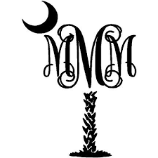 monogram decals palmetto monogram decal