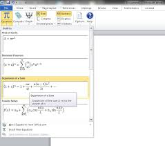 for inserting an equation math word equational π then any of structures or symbols