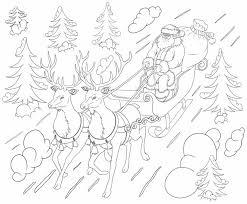 Coloriage de traîneau du Père Noël