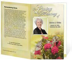 Funeral Program Covers The Story In Memory Of Funeral Program Celebrating Life Final