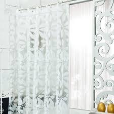 2017 peva waterproof shower curtains bathroom white simple design