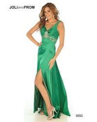 cheap lime green prom dress v neck formal empire waist long train