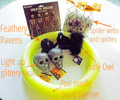 how to make a halloween wreath tales from a cottage diy dollar store halloween wreath