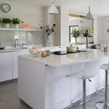 white kitchen units wood worktop wren kitchens sunshine yellow