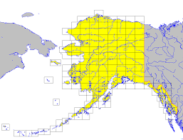 Alaska Map In Usa by Usa Topographic Map Index