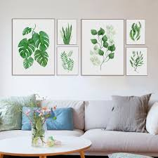 aliexpress com buy watercolor leaves posters and prints wall art
