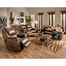 Reclining Living Room Furniture Sets by Catnapper Transformer Leather Reclining Sofa Set Toast Hayneedle