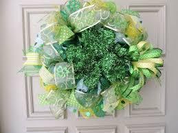 s day wreaths st s day wreath mesh wreath door shamrock st