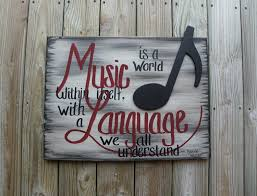 Music Decor Handmade Painting Music Quote Wall Decor Wall