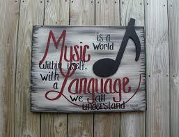 music wall decor handmade painting music quote wall decor wall