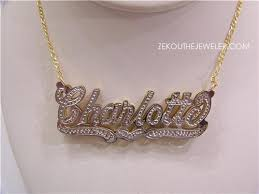 name plate necklaces real gold nameplate necklace accordion necklace