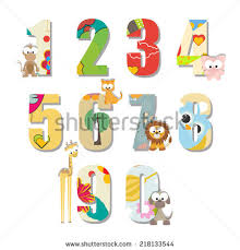cute funny colorful number characters stock vector 527329237