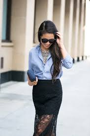 white shirt necklace images Picture of with button down shirt statement necklace and mini clutch jpg