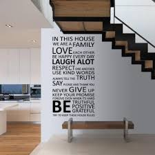 Decorating Living Room Wall Decorate House Family Home Rules Quote Wall Sticker Art Decal Home Living