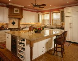 brilliant center islands for kitchens with wine rack on side of