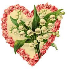 victorian valentine graphic floral heart graphics fairy clip