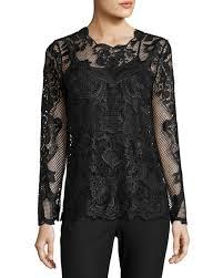 kobi halperin heddie long sleeve lace blouse black kobihalperin