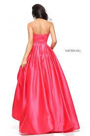 sherri hill 50812 strapless satin ball gown rissyroos com