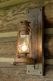 Old Western Home Decor Converted Kerosene Lamp For Outdoor Lighting I Would Use It