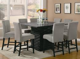 coaster table and chairs coaster 102068 8x9gry stanton nine piece counter height dining set