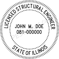 illinois professional engineer stamp pe stamps